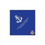 Wedding Beverage Napkins - Cobalt Blue