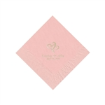 Wedding Beverage Napkins - Classic Pink