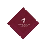 Wedding Beverage Napkins - Cranberry