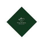 Wedding Beverage Napkins - Evergreen
