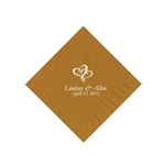 Wedding Beverage Napkins - Gold