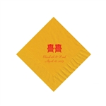 Wedding Beverage Napkins - Harvest Gold
