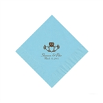 Wedding Beverage Napkins - Pastel Blue