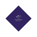 Wedding Beverage Napkins - Purple
