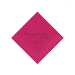 Wedding Beverage Napkins - Raspberry