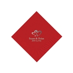 Wedding Beverage Napkins - Red
