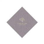 Wedding Beverage Napkins - Silver