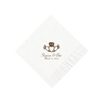 Wedding Beverage Napkins - White