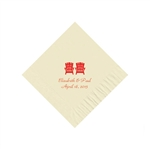 Wedding Beverage Napkins - Warm White