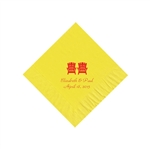 Wedding Beverage Napkins - Primrose Yellow