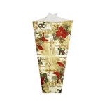 Wholesale Floral Christmas Cheer Plant Sleeves