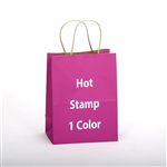 1 Color Hot Stamped Smooth Solids Paper Shopping Bag