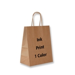1 Color Ink-Printed Chimp Kraft Paper Shopping Bag