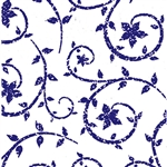 Wholesale Floral Counter Rolls - Deco Swirl Purple Pattern