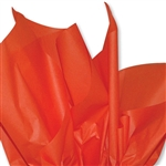 Poppy Orange Colored Tissue Paper