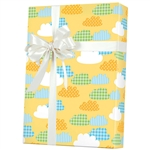 Gingham Clouds Baby Gift Wrap wholesale
