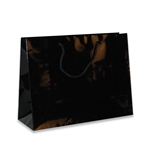 Black Junior Medium Eurotote Bags-Gloss Laminated