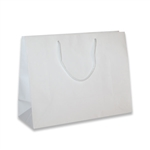 White Junior Medium Eurotote Bags-Gloss Laminated