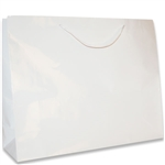 White Jumbo Large Eurotote Bags-Gloss Laminated