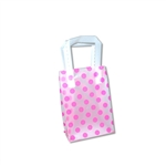 Frosted Petite Reusable Pink Dots Bags