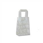 Frosted Petite Reusable White Swirls Bags