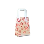 Frosted Petite Reusable Swirl Red Hearts Bags