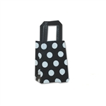 Frosted Petite Reusable White Dots on Black Bags