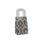 Frosted Petite Reusable Black Damask Bags