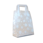 Frosted Petite Reusable White Snowflake Bags