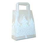 Frosted Petite Reusable White Christmas Bags