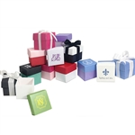 2 Piece Cube Favor Boxes - Custom Printed