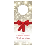 Custom Bottle Tags - Holiday Bow Design