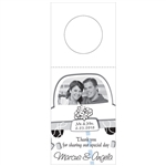 Custom Bottle Tags - Just Married Design