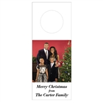 Custom Bottle Tags - Holiday Family Photo Design
