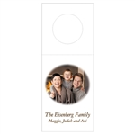 Custom Bottle Tags - Family Photo Oval Design
