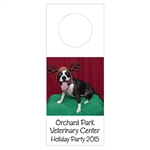 Custom Bottle Tags - Holiday Pet Design