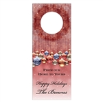 Custom Bottle Tags - Holiday Ornaments Design