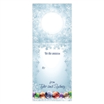 Custom Bottle Tags - Holiday Snow Design