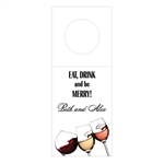 Custom Bottle Tags - Eat, Drink, Be Merry Design
