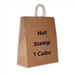1 Color Hot Stamped Gazelle Kraft Paper Shopping Bag
