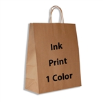 1 Color Ink-Printed Gazelle Kraft Paper Shopping Bag