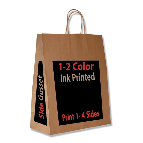 All Over Printed Kraft Paper Ping Bags