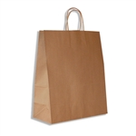 "Gazelle 100% Recycled Kraft Paper Shopping Bags: 13"" x 6"" x 15-3/4"" - 250 Bags/Case"