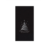 "Holiday Printed Guest Towel Napkins - Black - 4-1/4"" x 8-1/2"""