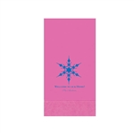 "Printed Guest Towel Napkins - Cotton Candy - 4-1/4"" x 8-1/2"""