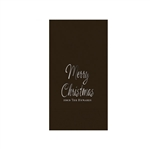 "Printed Guest Towel Napkins - Chocolate Brown - 4-1/4"" x 8-1/2"""