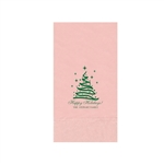 "Printed Guest Towel Napkins - Classic Pink - 4-1/4"" x 8-1/2"""