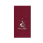 "Holiday Printed Guest Towel Napkins - Cranberry - 4-1/4"" x 8-1/2"""