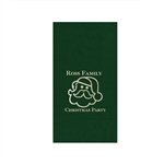 "Holiday Printed Guest Towel Napkins - Evergreen - 4-1/4"" x 8-1/2"""