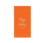 "Printed Guest Towel Napkins - Orange - 4-1/4"" x 8-1/2"""